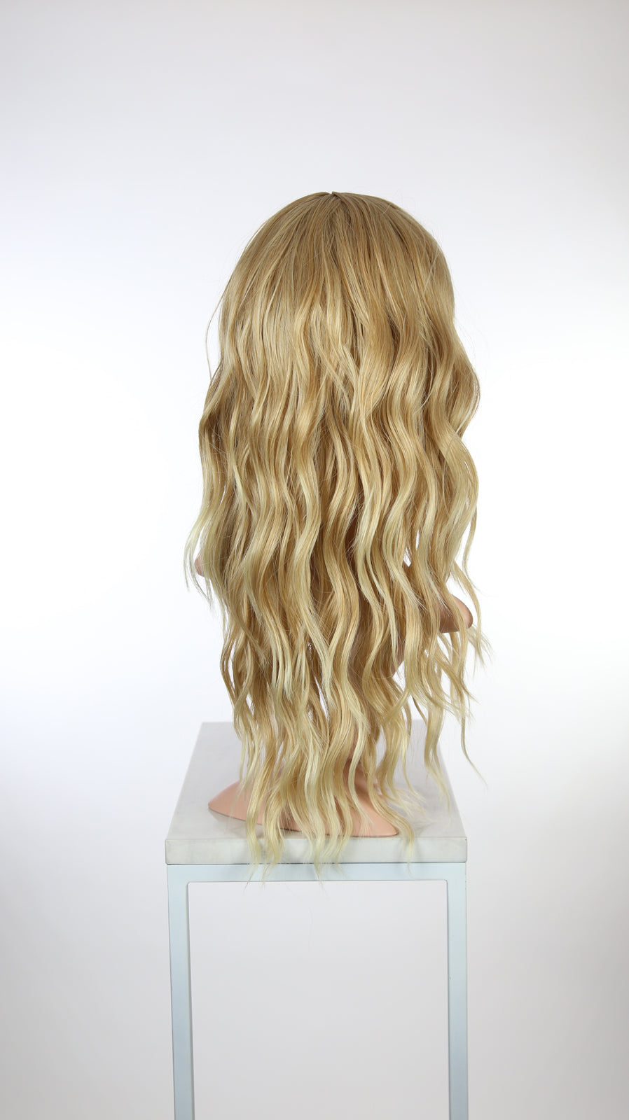Strawberry Blonde Ombre Long Wavy With Bangs Fashion Wig