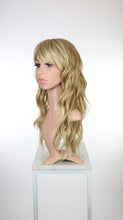 Strawberry Blonde Ombre Long Wavy with Bangs Fashion Wig HSOPH91