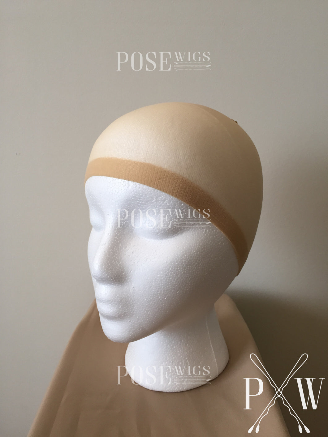 Stocking Wig Cap - Beige Nude Neutral Tan Nylon