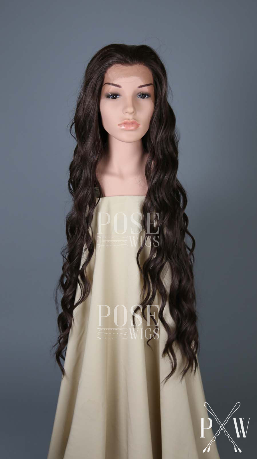 Dark Brown Long Curly Lace Front Wig - Lady Series LLMON10