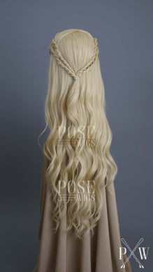 Blonde Custom Braided Long Curly Lace Front Wig - Lady Series