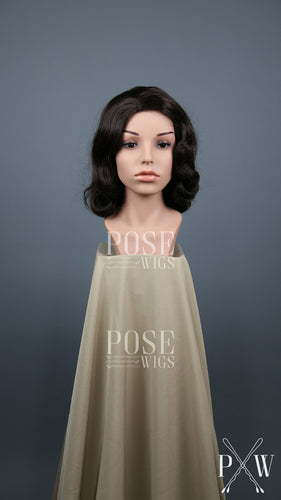Dark Brown Short Finger Wave Vintage Curls Costume Fashion Wig FETE10