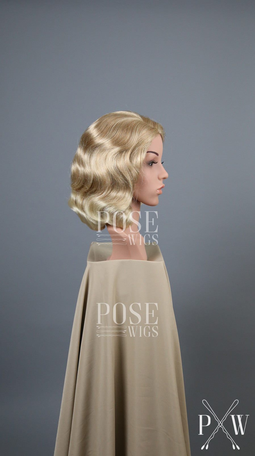 Strawberry Blonde Short Finger Wave Vintage Curls Costume Fashion Wig FETE91