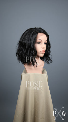 Black Short Curly Bob Lace Front Wig - Lady Series LLPEA1