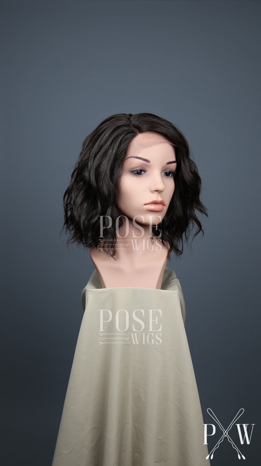 Dark Brown Short Curly Bob Lace Front Wig - Lady Series LLPEA10