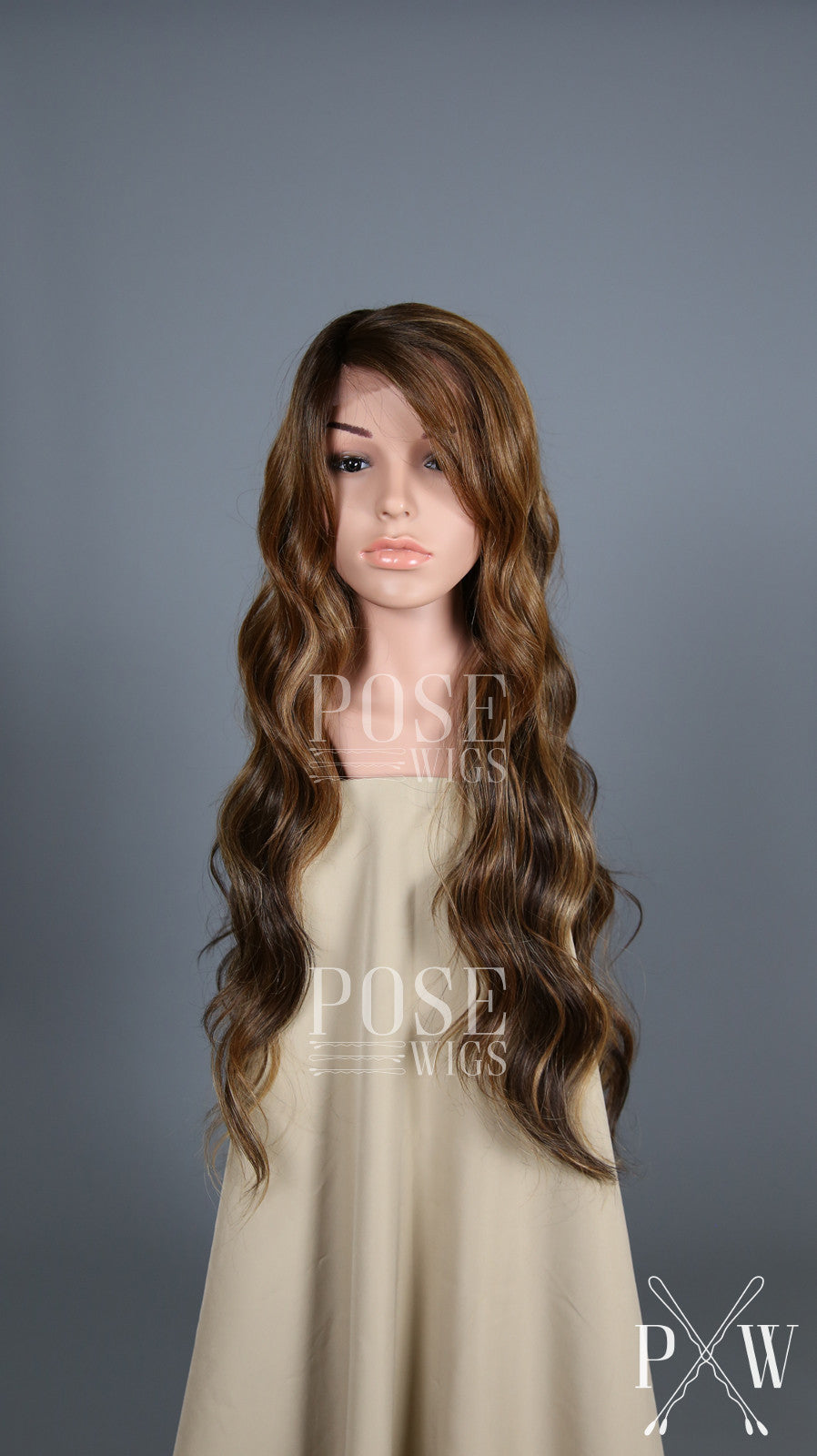 Balayage Brown Ombre Long Curly Lace Front Wig - Lady Series LLLAU70