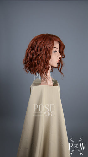 Red Short Curly Bob Lace Front Wig - Lady Series LLPEA52