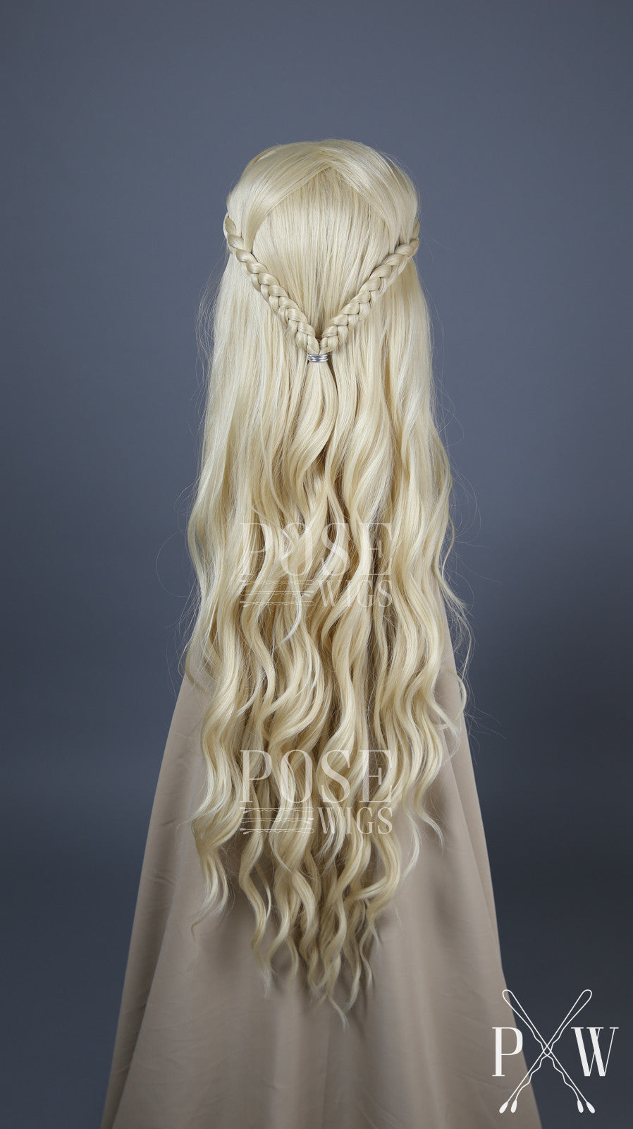 Daenerys Cosplay Blonde Custom Braided Long Curly Lace Front Wig - Lady Series