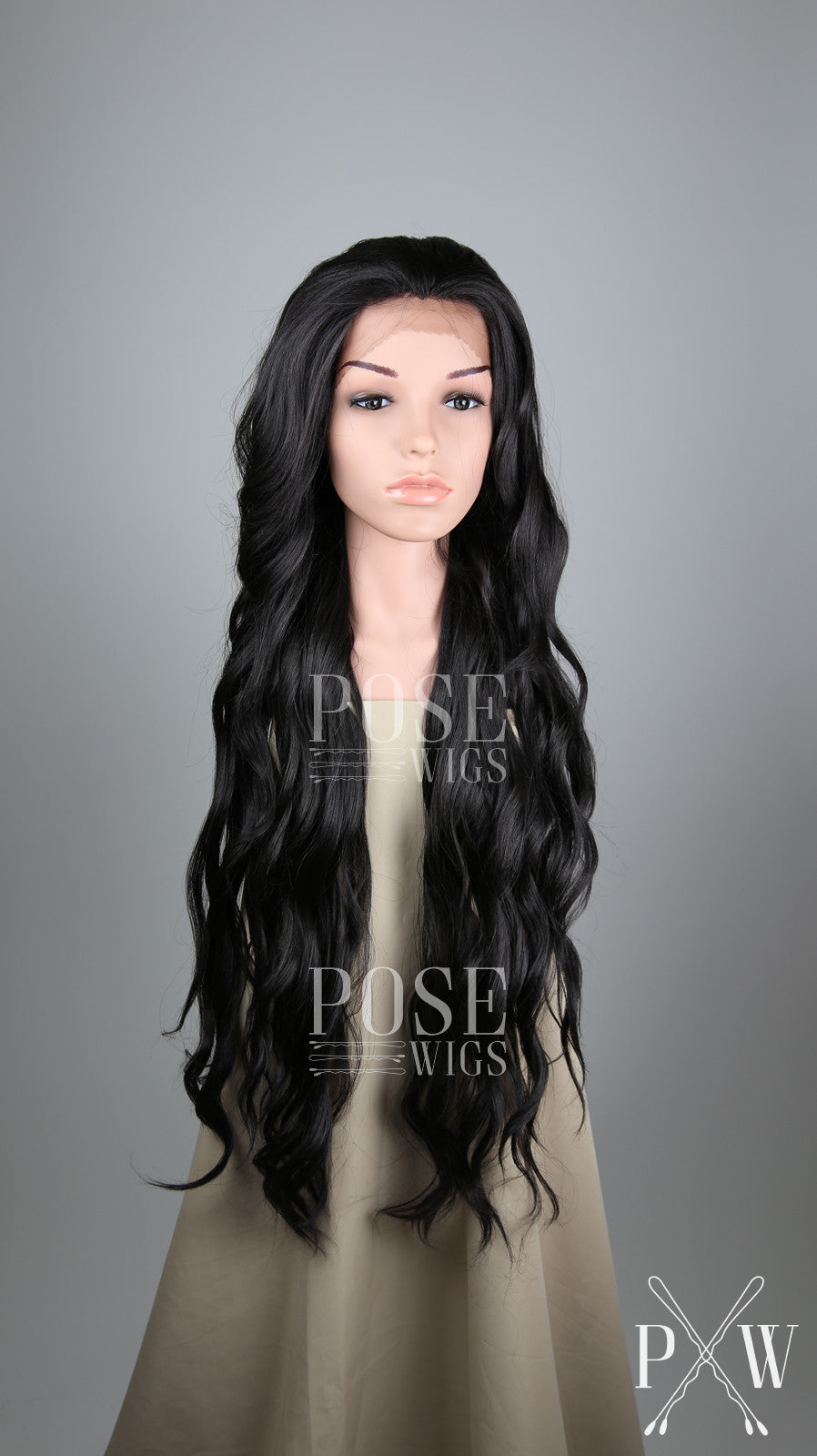 Black Long Curly Lace Front Wig - Lady Series LLMON1