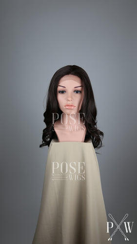 Dark Brown Long Wavy Lace Front Wig - Lady Series LLSAF10