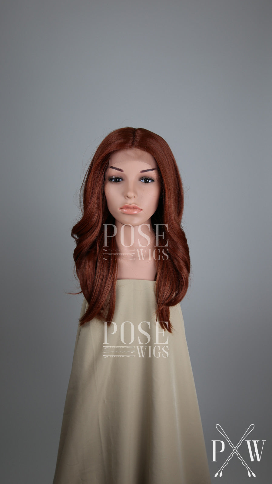 Red Long Wavy Lace Front Wig - Lady Series LLSAF52