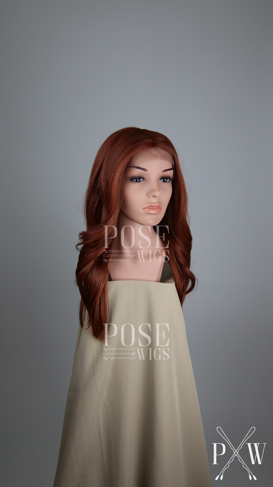 Red Long Wavy Lace Front Wig - Duchess Series LDSAF52