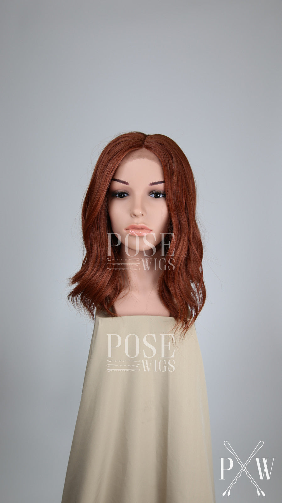 Red Medium Length Wavy Bob Lace Front Wig - Lady Series LLHAT52