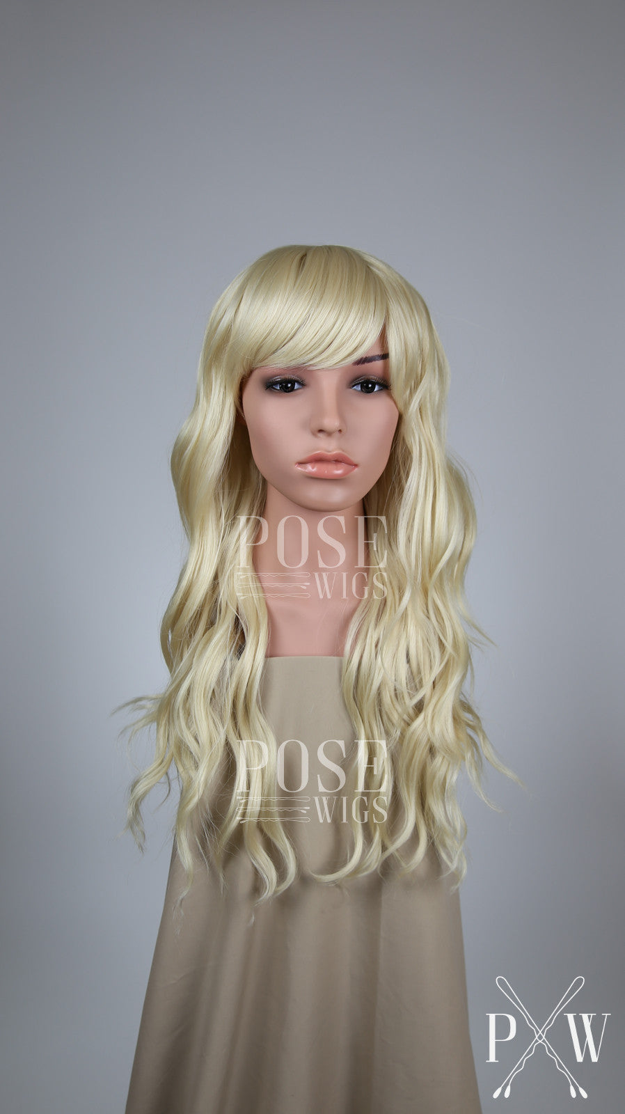 Blonde Long Wavy with Bangs Fashion Wig HSOPH44