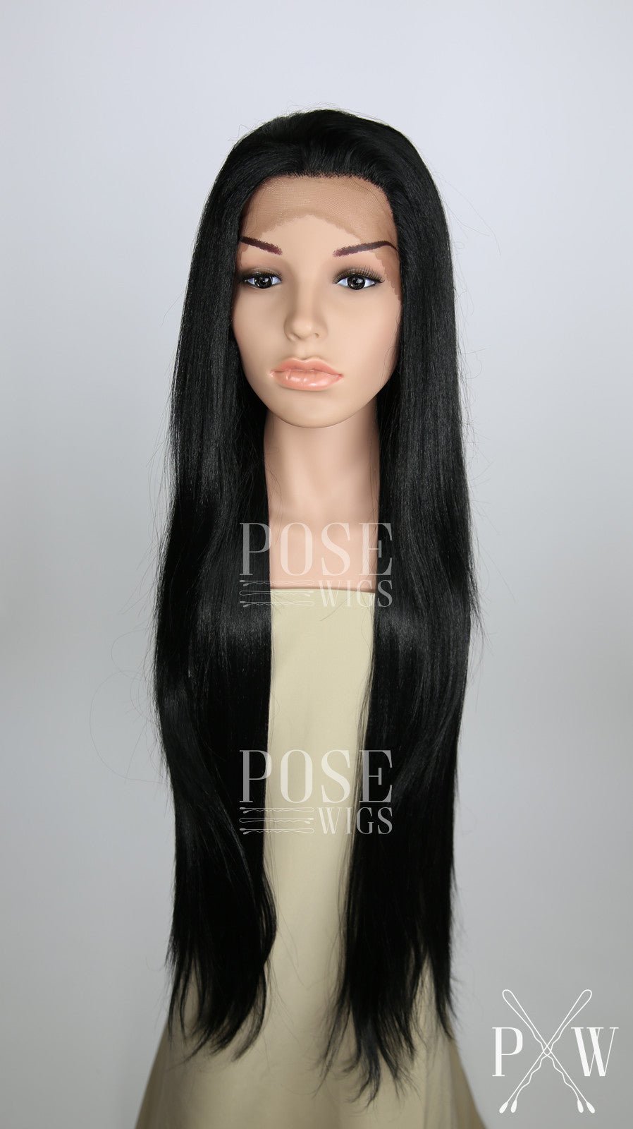 Black Long Straight Lace Front Wig - Lady Series HAW1