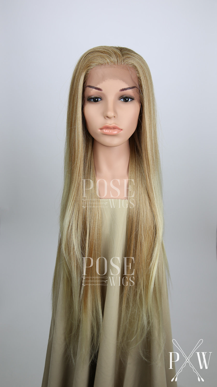 Strawberry Blonde Ombre Long Straight Lace Front Wig - Lady Series LLHAW91