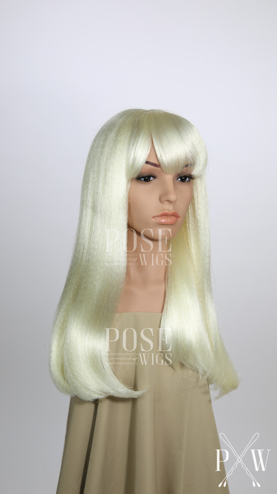 ... White Blonde Long Straight with Bangs Costume Wig FKEL45 ...  sc 1 st  Pose Wigs & White Blonde Long Straight with Bangs Costume Wig FKEL45 u2013 Pose Wigs