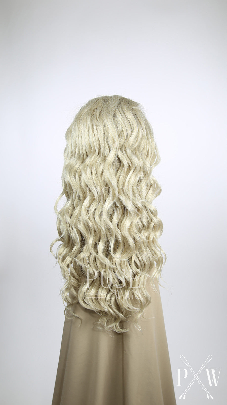Ash Blonde Long Curly Lace Front Wig Princess Series
