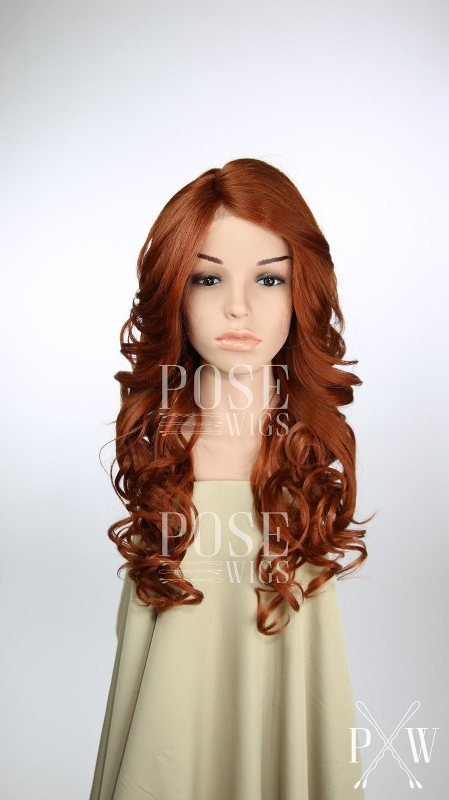 Red Long Curly Lace Front Wig - Lady Series LLICN53