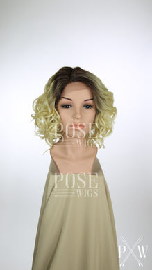 Blonde Ombre Short Curly Bob Lace Front Wig - Lady Series LLKER85