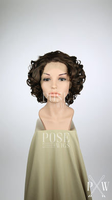 Brown Short Curly Lace Front Wig - Princess Series LP106