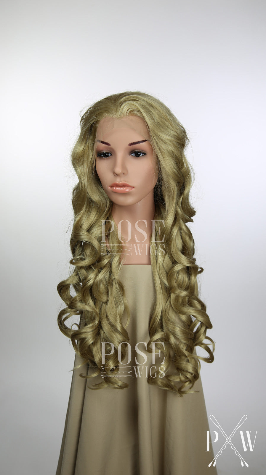 Honey Blonde Long Curly Lace Front Wig - Princess Series LP126