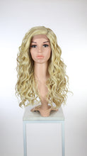 Blonde with Lowlights Long Curly with Bangs Lace Front Wig - Duchess Series LDCAL43