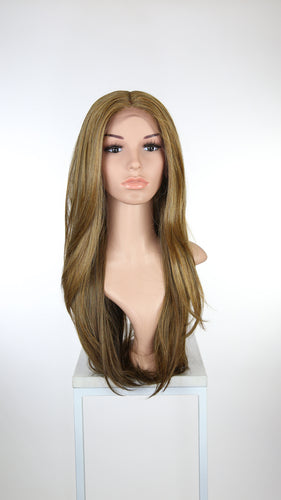 Brown Mix Long Straight Lace Front Wig - Duchess Series LDLND113
