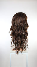 Dark Brown with Highlights Long Wavy Lace Front Wig - Duchess Series LDYVO18