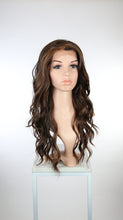 Dark Brown with Highlights Long Wavy Lace Front Wig - Lady Series LLYVO18
