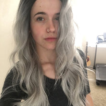 Silver Grey Ombre Long Wavy Lace Front Wig - Lady Series LLYVO80