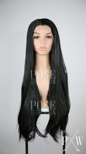 Black Long Straight Lace Front Wig - Princess Series LP138