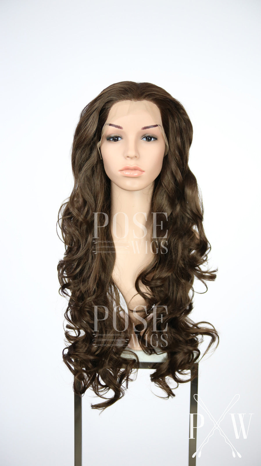 Brown Long Curly Lace Front Wig - Princess Series LP127