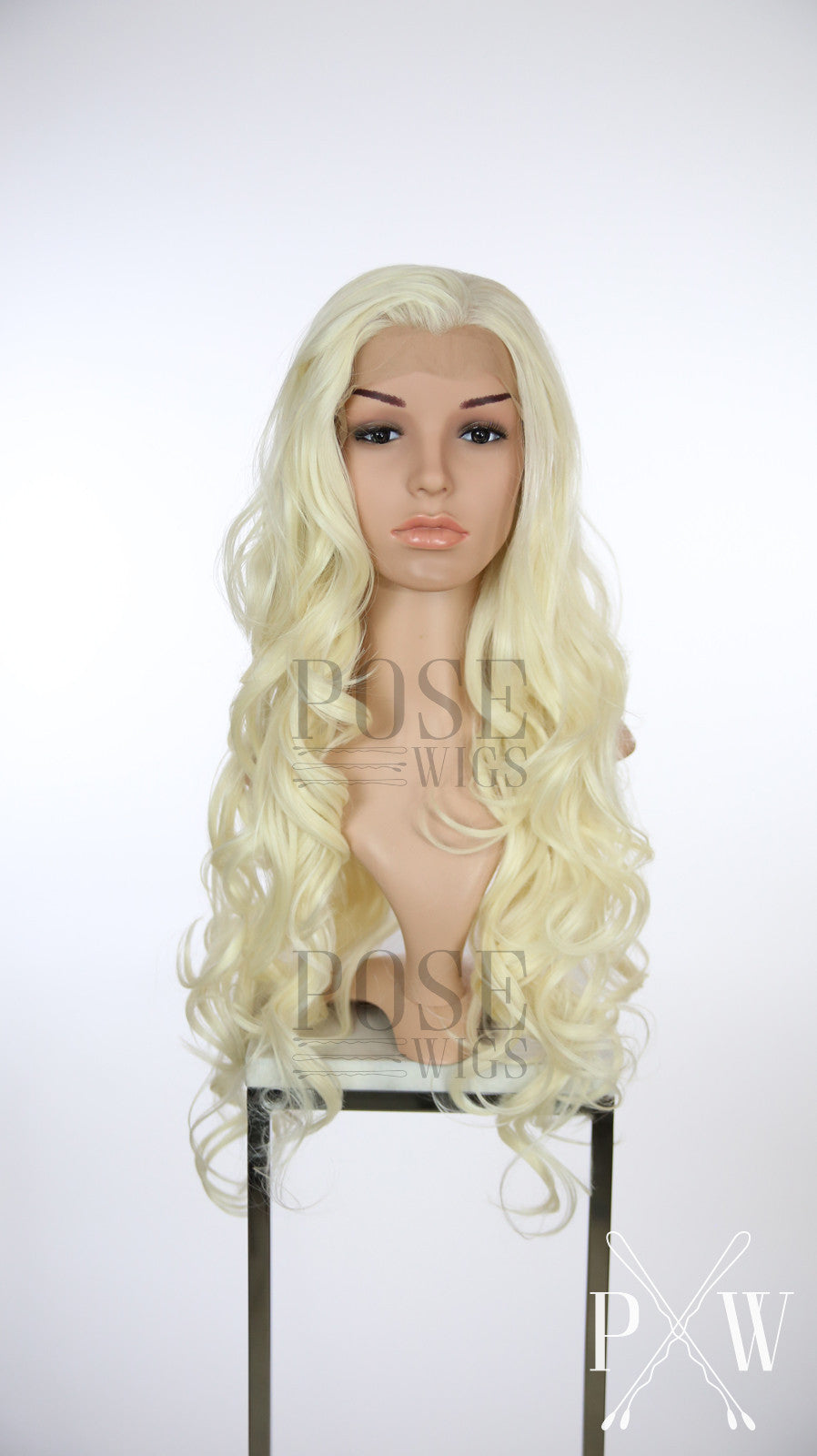 Crystal Blonde Long Wavy Lace Front Wig - Princess Series LP006