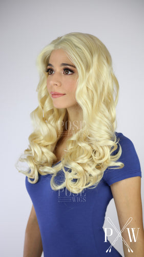 Blonde Long Curly Lace Front Wig - Princess Series LP133