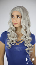 Khaleesi Wig Silver Grey Long Curly Lace Front Wig - Princess Series LP011