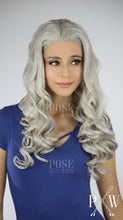 Daenerys Wig Silver Grey Long Curly Lace Front Wig - Princess Series LP011