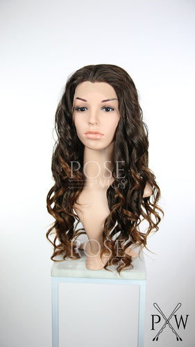Brown Ombre Long Curly Lace Front Wig - Princess Series LP087