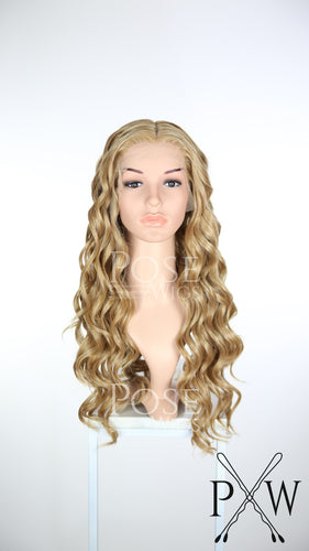 Cersei Cosplay Wig Strawberry Blonde Long Curly Lace Front Wig  - Queen Series LQ038
