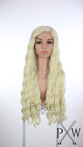 Light Blonde Long Curly Lace Front Wig - LQ039