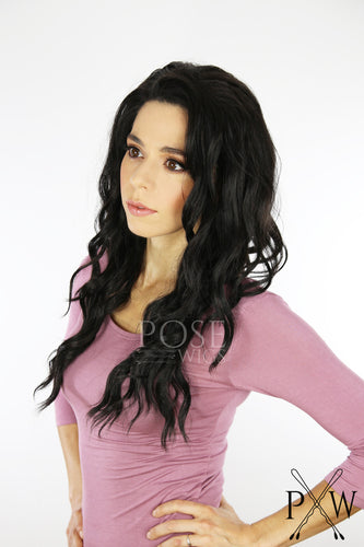 Darkest Brown Long Wavy Lace Front Wig - Lady Series LLYVO8