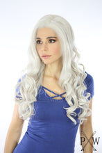 White Blonde Long Curly Lace Front Wig - Large Head Size Available - Queen Series LQ019