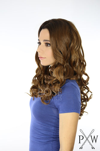Brown Ombre Long Curly Lace Front Wig - Large Size - Queen Series LQYVAL292
