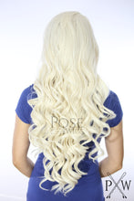 White Blonde Long Curly Lace Front Wig - Princess Series LPDAE17