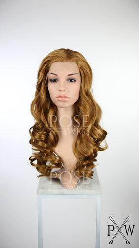 Reddish Light Brown Long Straight Lace Front Wig - Princess Series LP150