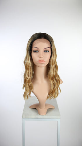 Balayage Blonde Ombre Long Wavy Lace Front Wig - Lady Series LLSHL71