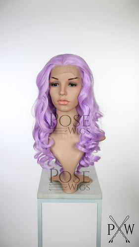 Light Purple Long Curly Lace Front Wig - Princess Series LP143