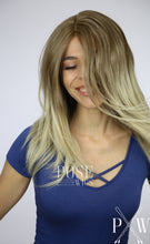 Blonde Ombre Medium Length Curly Lace Front Wig -Large Size Available- Queen LQ031 LQ031-L