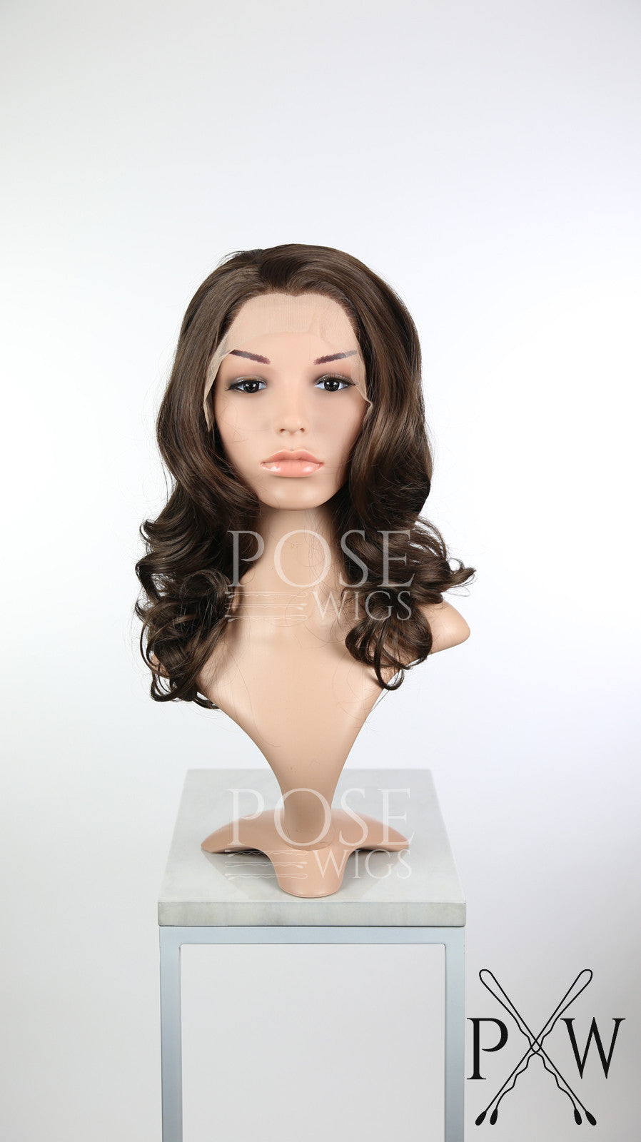 Brown Medium Length Curly Lace Front Wig - Princess Series LP110