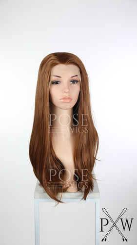 Reddish Brown Long Straight Lace Front Wig - Princess Series LP113